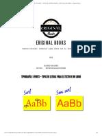 Tipografía_ 5 Fonts – Tipos de Letras Para El Texto de Un Libro _ Eriginal Books