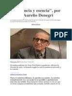 Existencia y Esencia Marco Aurelio Denegri