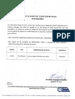 Certificacion Guante Cabritilla