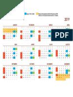 Calendário 2019 TEACD
