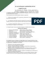 Análisis de Los Enfoques Administrativos