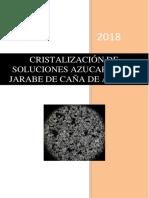 Cristalización de Sol Azucaradas
