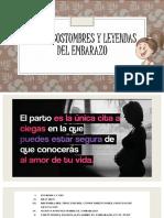 Mitos, Costumbres y Leyendas Del Embarazo