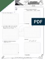 Examen Diagnóstico Algebra- Geo (1-2)