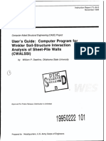 USER's GUIDE for WINKLER SOIL-structure Interaction Analysis of Sheet Piling Walls