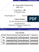 Automobile Engineering Syllabus