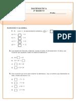 Patrones y Algebra Tercero basico