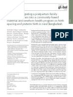 Impact of integrating a postpartum family planning program into a community-based maternal and newborn health program on birth spacing and preterm birth in rural Bangladesh