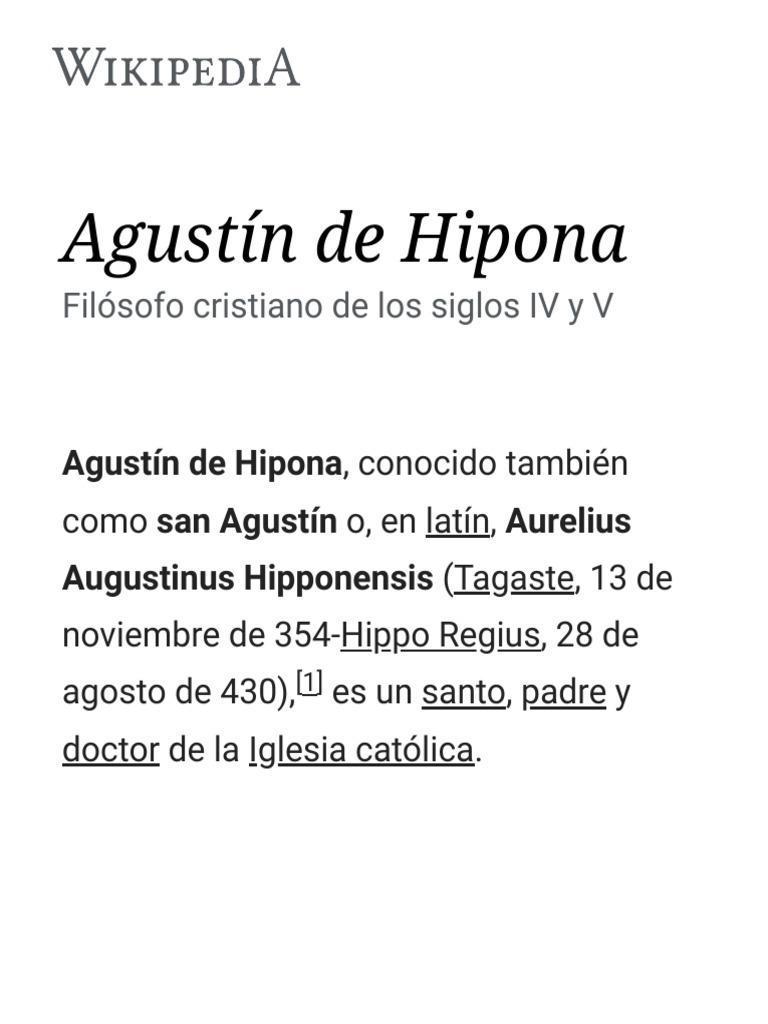 Agustín De Hipona Pdf