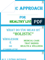 Holistic Approach for Healthy Living - PEC 09 March 2018.