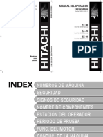 Manual Del Operador hitachi zx30