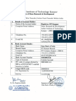 IITK Bank Details SBI