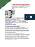 Características de Los Pingüinos