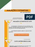 ORÇAMENTO DE OBRAS - 2 - AVALIAÇÕES E ESTIMATIVAS.pptx