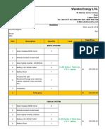 Wavetra Energy LTD Solar System Price Quotation - solar/inverter installation in Nigeria price