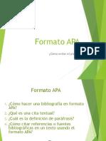 ANEXO Formato APA, Paráfrasis y Citas Textuales
