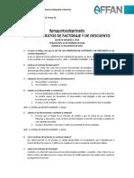 Ley de Los Contratos de Factoraje y de Descuento - Preguntas de Privado