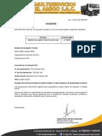 Cotizacion Multiservicios El Amigo Sac- 154-2018