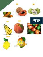Frutas en Kaqchiquel