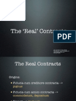Obligations Real Contracts in Rome