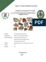 Rocas y Minerales Informe