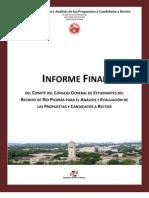 Informe Final Comite de An‡lisis y  Evalucación del CGE 2010-2011-1
