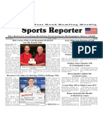 July 25 - 31, 2018  Sports Reporter