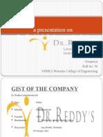 A Presentation on DR.reddY LABS