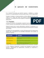 Politicas de Operación Del Mantenimiento Industrial