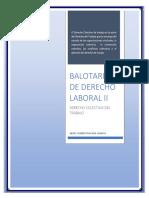 Balotario de Derecho Laboral II