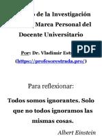 Impacto de la investigación sobre la marca personal del docente universitario.