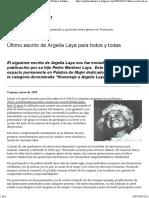Argelia Laya Palabra de Mujer