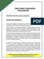 33. RESUMO PARA CONCURSO PROFESSOR - DECROLY.pdf