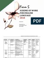 Scheme of Work Form 5 English