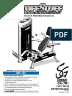 TuffStuff Bio-Arc (BA-701) Owner's Manual
