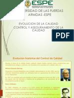 Evolucion Calidad y Control c