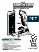 Bio-Arc Triceps Dip (BA-704) Owner's Manual