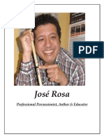 Jose Rosa Professional Percussionist, Author, Producer and educator