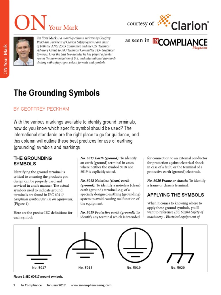 Incompliance January 2012 Grounding Symbols International