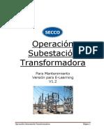 Operación Subestación Transformadora V1.2