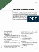 Vagotomías Por Vía Laparoscópica