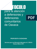 Protocolo EDUCA defensa comunitaria