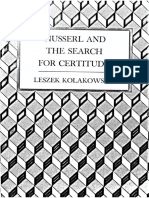 Kolakowski - Husserl and the Search for Certitude