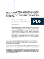 A Spatial Analysis of The Dispersion of Transportation  Induced Carbon Monoxide Using The Gaussian Line Source Method
