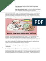 5 Masalah Yang Sering Terjadi Pada Komputer