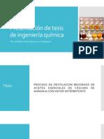 Presentación de Tesis de Ingeniería Química