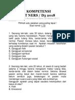 Soal Uji Kompetensi Perawat Ners d3 2018