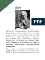 Breve Biografia de Saul Bellow