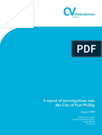 A Report of Investigations Into the City of Port Phillip