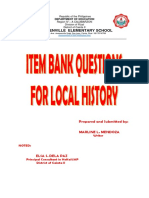 2015 Item Bank Questions for Local History